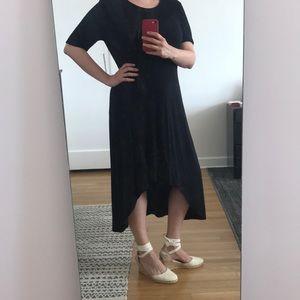NWT Halston Black High-Low Dress